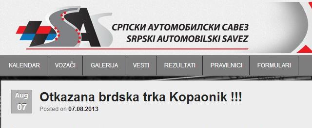 BRDSKE TRKE - SAS PRECRTAO KOPAONIK