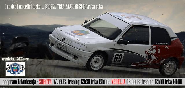 BRDSKA TRKA ZAJEČAR II 2013 - PRAVILNIK TRKE